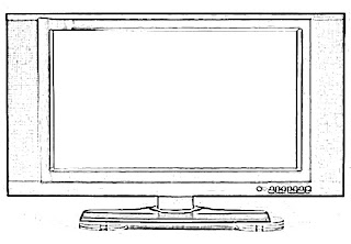 LCD Television Sketch