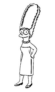 Marge Simpson Sketch
