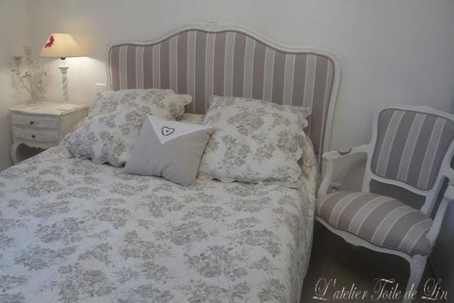 ambiance chambre style Louis XV revisité