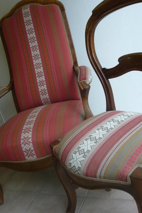 Voltaire & chaise Louis-philippe coordonnés
