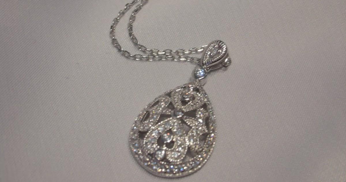 Teardrop Pendant Bridal Necklace