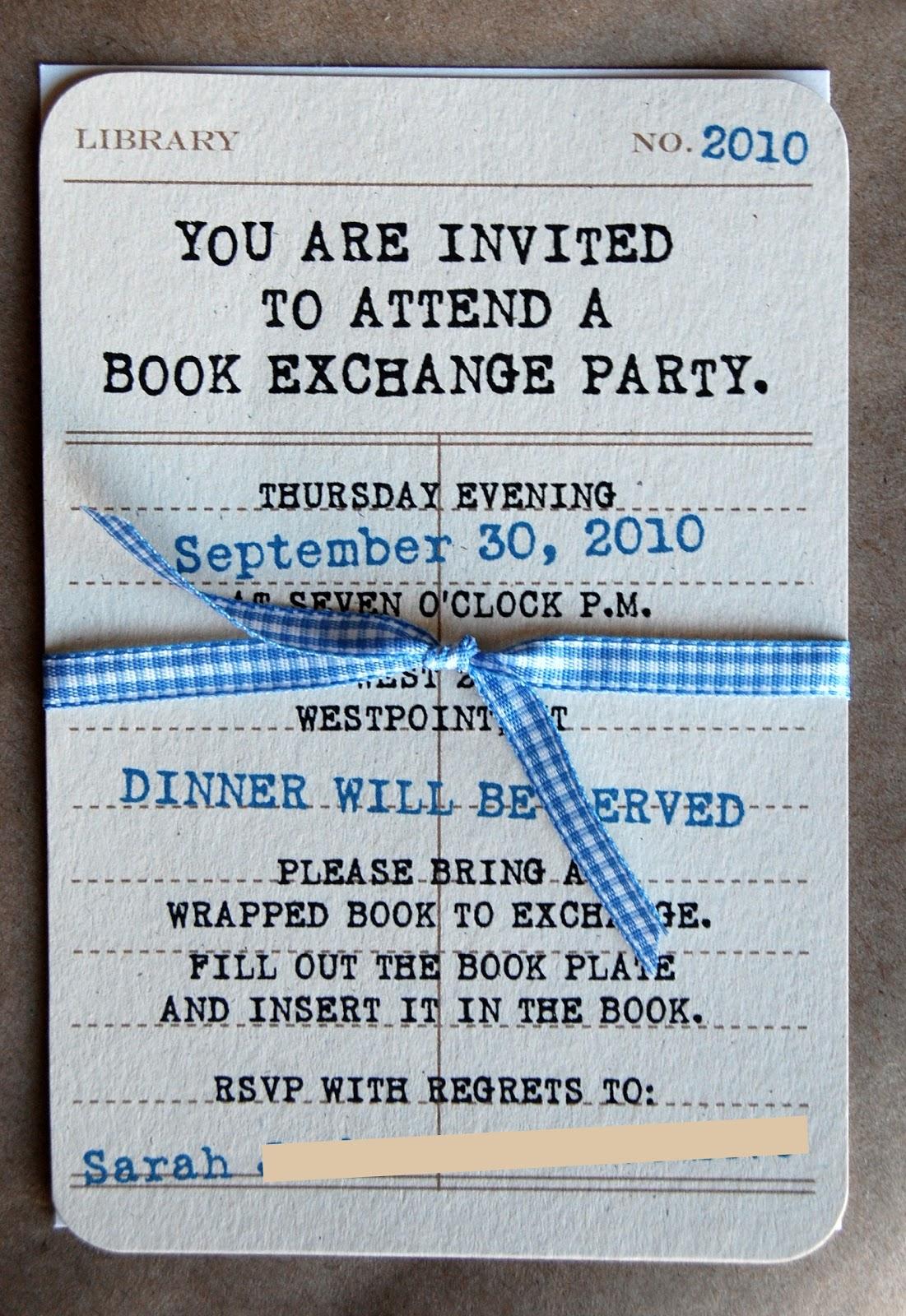 Reid Girls Handmade Book Exchange Party Freebie