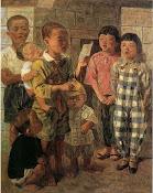 李石樵〈唱歌的小孩〉1944