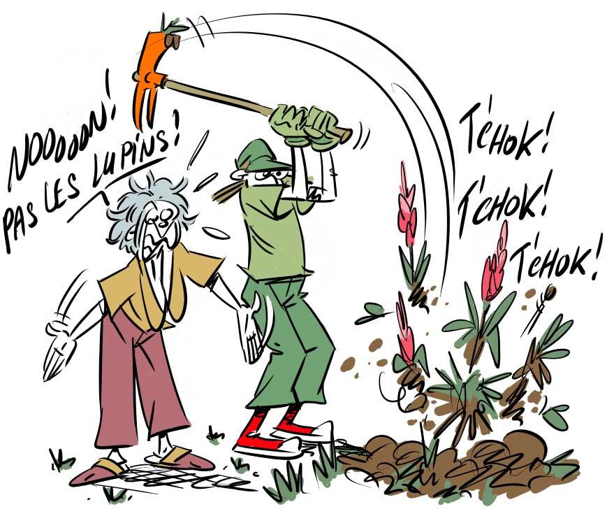 image drole jardinage