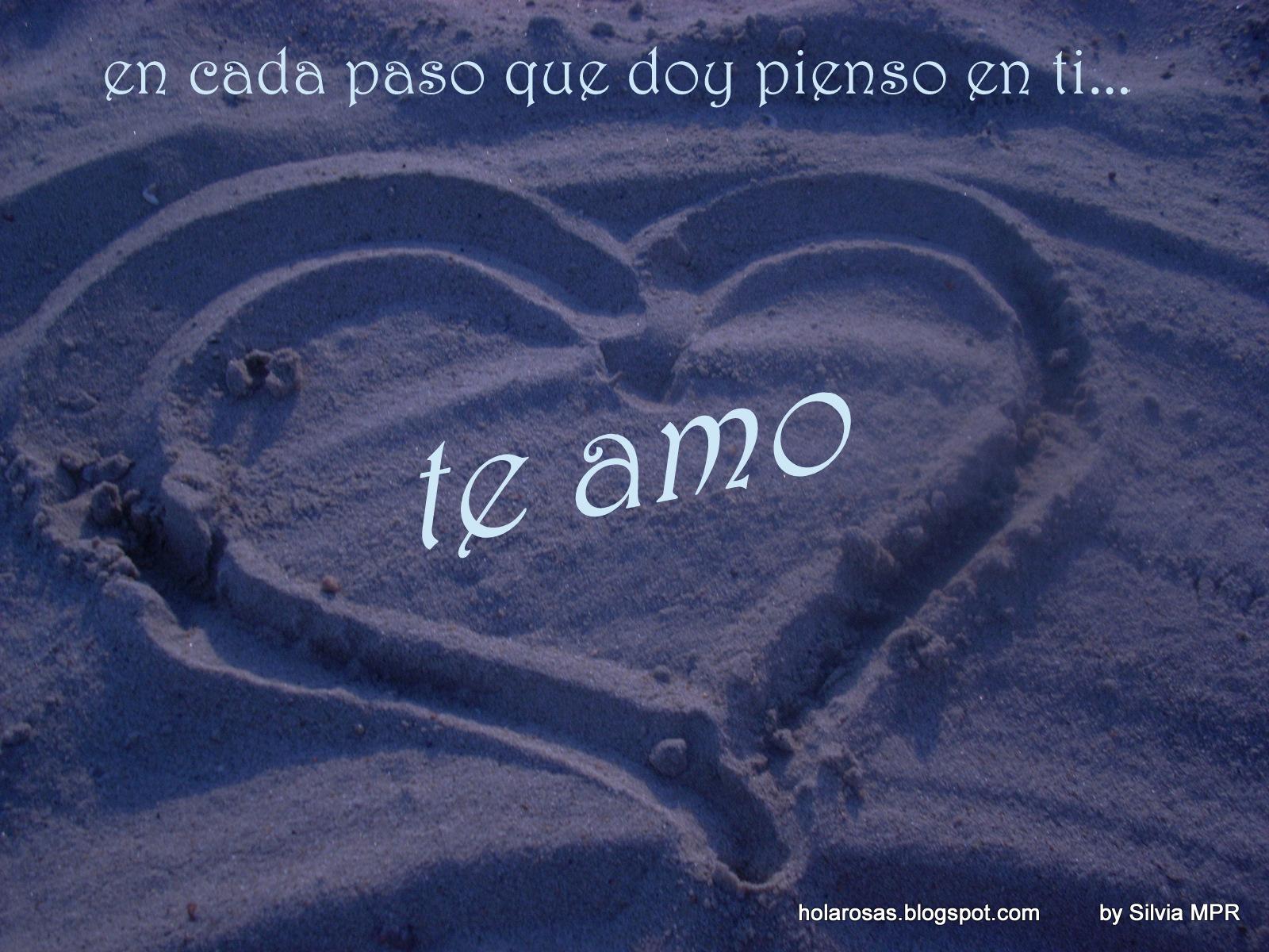Frases de Amor con Imagenes de corazones en la playa