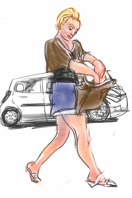 Car dealer is a sketch by illustrator Artmagenta