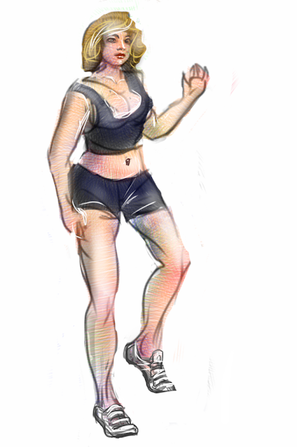 Barefooted is a sketch by Artmagenta