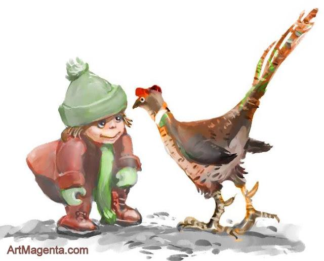 Pheasant by ArtMagenta.com