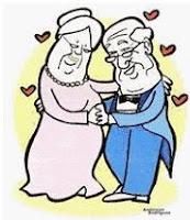 Casal de idosos dançando