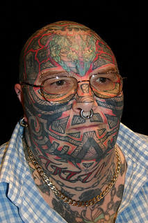 guy with tatooed head