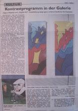 Artículo periodístico sobre la exposición de Mariellage en Alemania