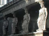 Slouching caryatids
