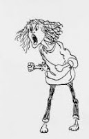 Angry Woman, by Jules Feiffer