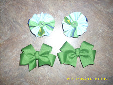 John Deere matching hair bows