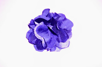 Purple Sparkle Silk Flower
