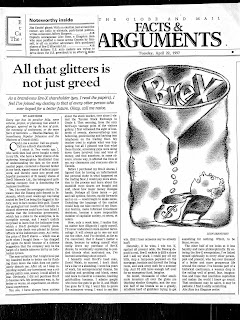 Facts and arguments essay globe mail canada