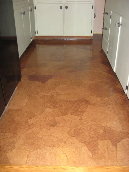 Yeowzers diy paper bag flooring for Unusual inexpensive flooring ideas