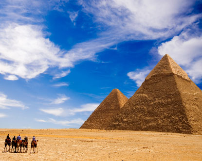 The great Pyramid of Giza is