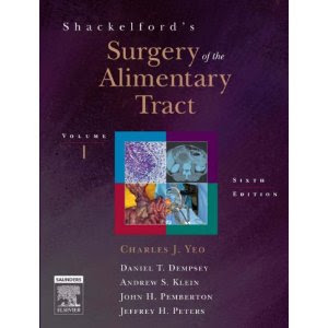 Shackelford's Surgery of the Alimentary Tract - 6th Edition SURGERY