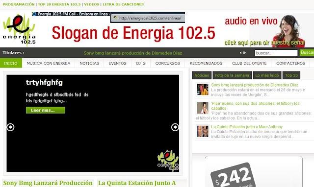 Energia 102.5 FM en VIVO!