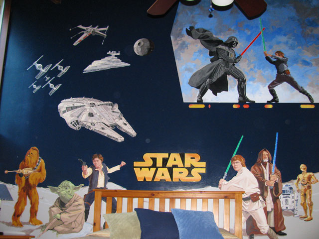 Ramblings from a painter the star wars mural for Mural star wars