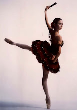A ballerina masks her strength with beauty. Yet undeniably, it is still there...