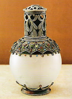moroccan fragrance lamp, jeweled bottle