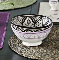 moroccan patterned bowl,coffe and cream