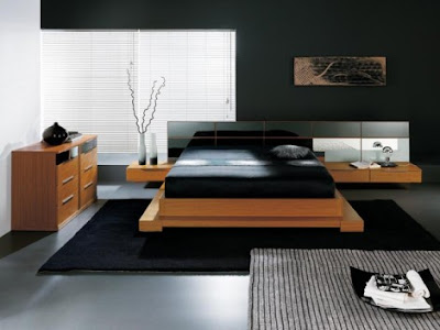 Asian Bedroom Furniture on Stylish Asian Bedroom Design With Wooden  Framed Bedroom Funiture Set