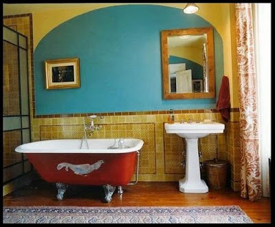 Colorful Bathroom, interior design