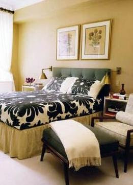 Black and White Taupe Bedroom, Interior Design