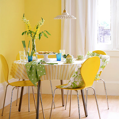 Dining Room on Yellow Dining Room  Interior Design