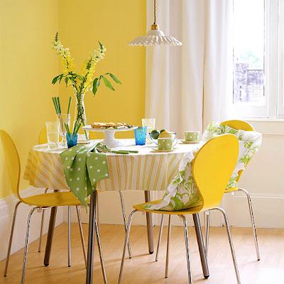 Yellow Dining Room, interior design