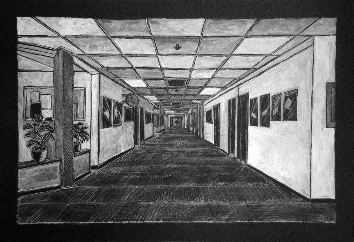 Form And Space In Art : Art from the chasm form space hallway perspective