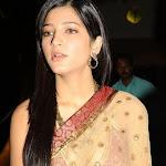 Sruthi Hassan in Transparent Saree Hot Pics