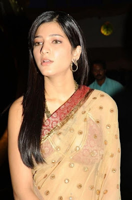 Shruti Hassan Hot wallpapers in transparent Saree hot photos