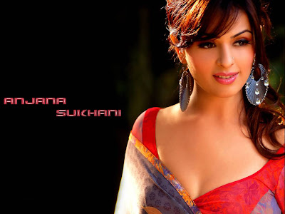 Anjana sukhani cute hindi actress wallpapers.