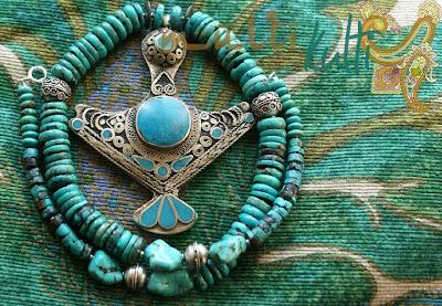 biżuteria etniczna: naszyjnik