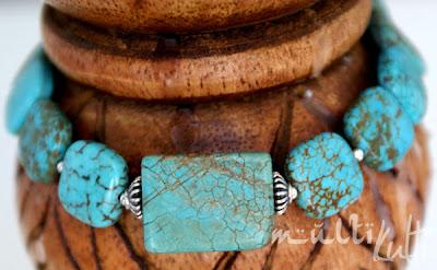 turkusowa bransoleta