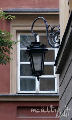 Warszawa Starówka lampa