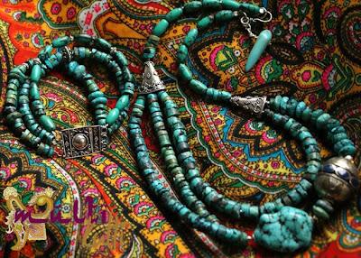 turkus: bransoleta i naszyjnik
