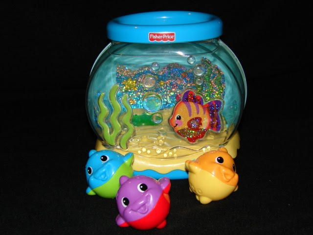 The toy bag reviews of books toys for babies toddlers for Fish bowl price
