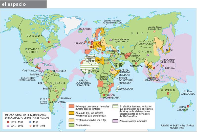 el mundo durante la segunda guerra mundial: