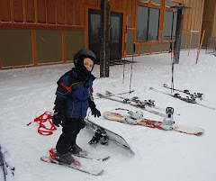 Josh Stepping Into his Bindings
