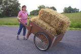 The Lovely Marlene With A Homemade Whizbang Garden Cart