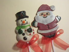 Muñeco de nieve y santa