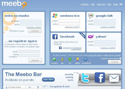 Meebo.com - Uma ótima opção para quem