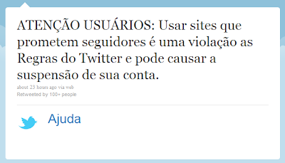 Aviso do Twitter