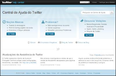Suporte do Twitter agora em Português!