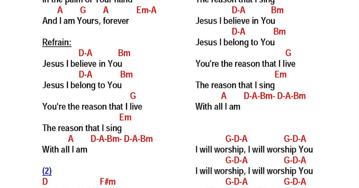 WITH ALL I AM by Hillsong - lyrics and chords ~ Faith and Music
